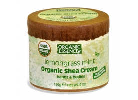 Organic  Shea Cream-Lemongrass Mint