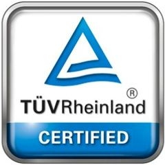 2017 TÜV RHEINLAND  Certificate Received